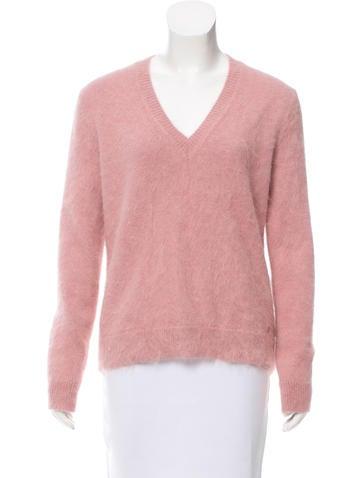 Gucci V-Neck Angora Sweater None
