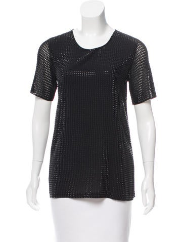 Gucci Embellished Short Sleeve Top None