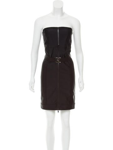 Gucci Belted Strapless Dress None