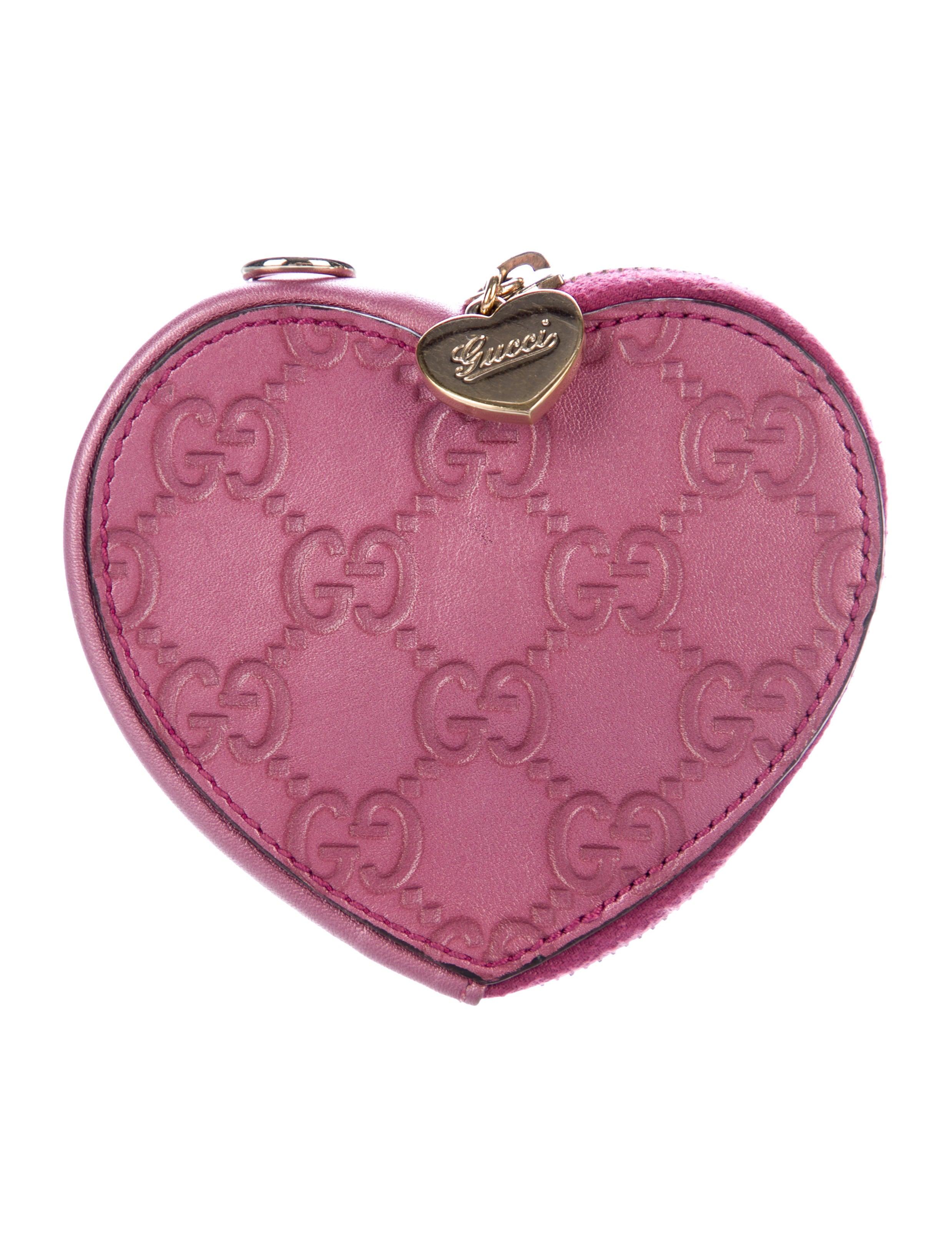 bc143fcb20a Gucci Guccissima Heart Coin Pouch - Accessories - GUC198376