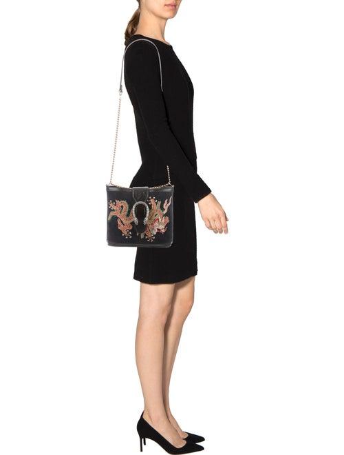 6a9062bcbd3 Gucci 2018 Suede Dragon Embroidered Dionysus Bucket Bag - Handbags ...