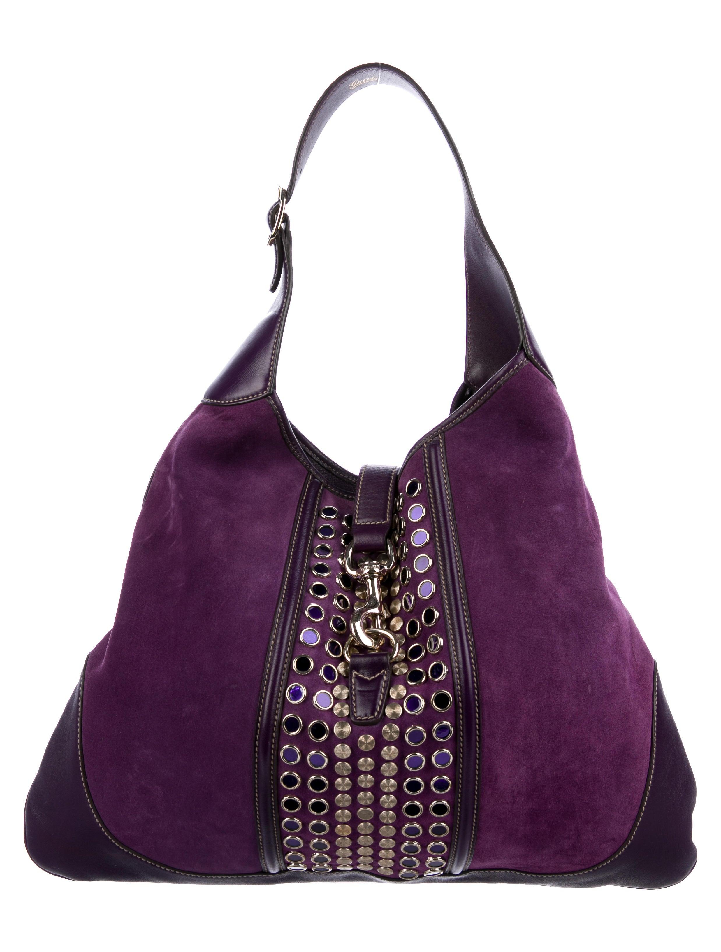 9cfaa65077b Gucci Studded Jackie O Bouvier Bag - Handbags - GUC198956