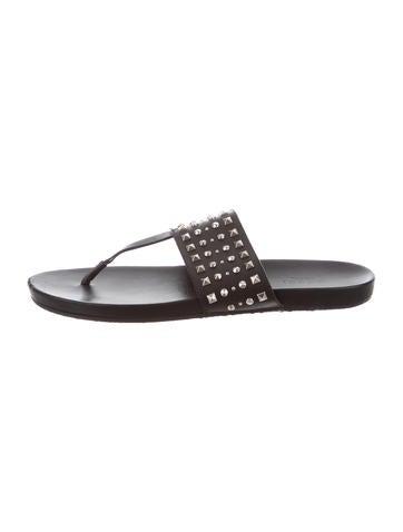 Stud-Embellished Thong Sandals