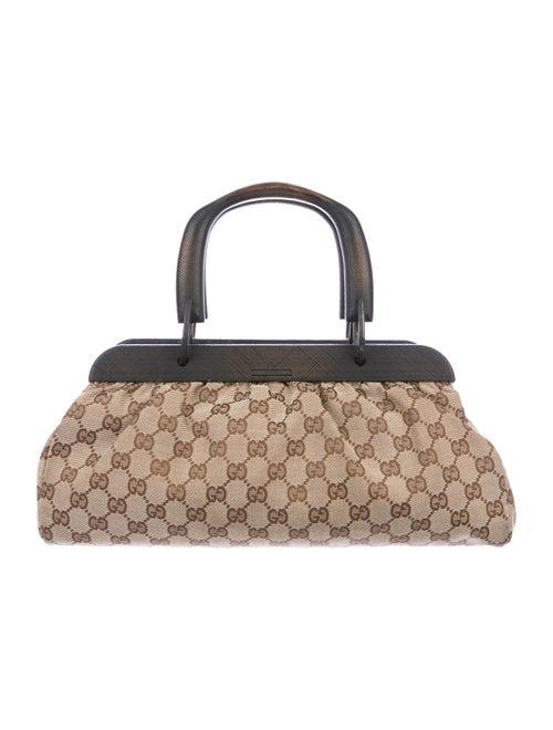 2323f72ae370f1 Gucci GG Small Wood Handle Bag - Handbags - GUC200827 | The RealReal