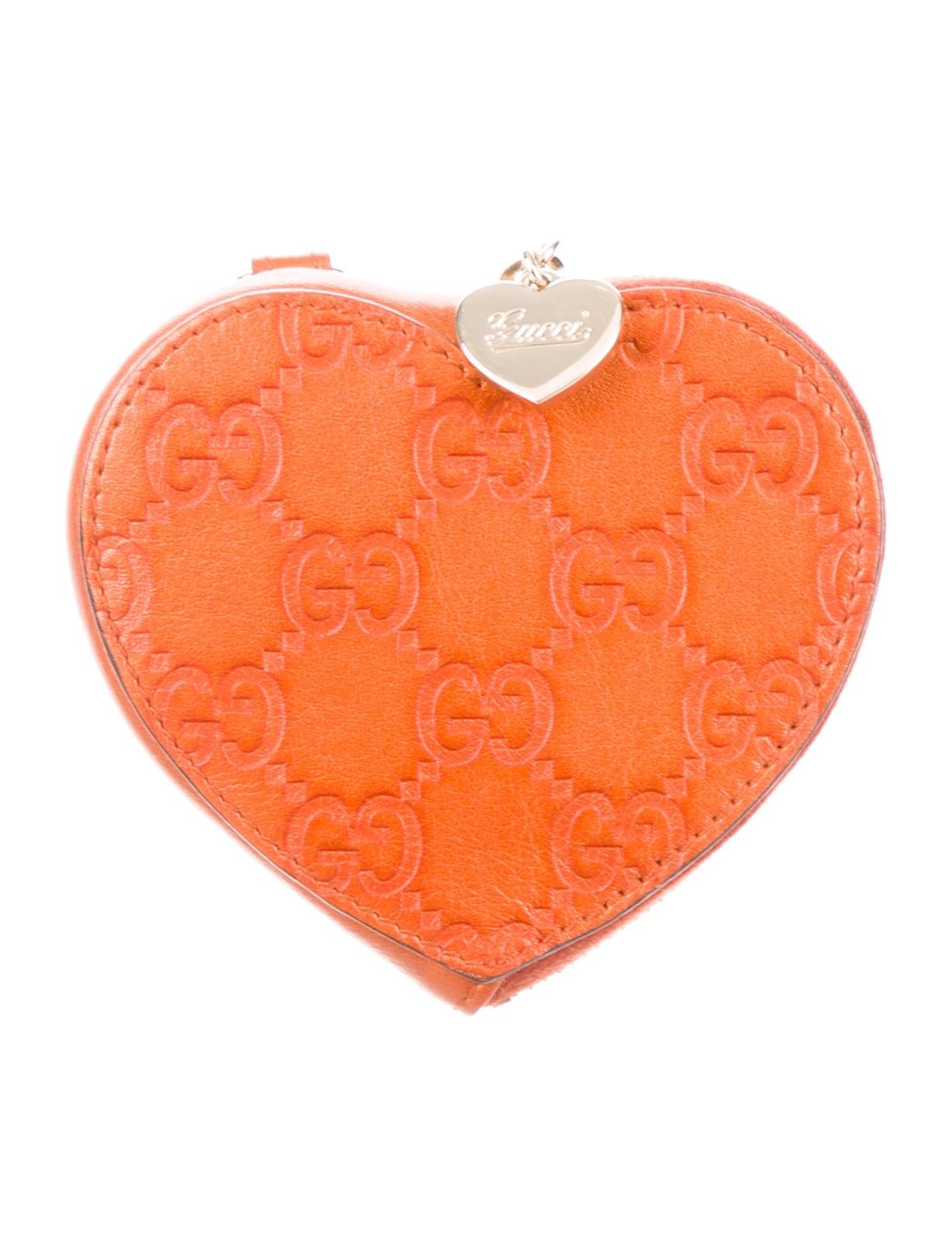1360ddd5351 Gucci Guccissima Heart Coin Pouch - Accessories - GUC201402