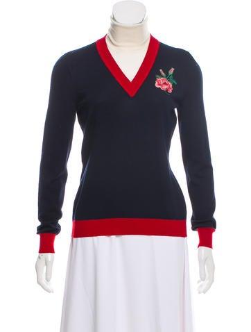 Gucci 2016 Wool Appliqué Sweater None