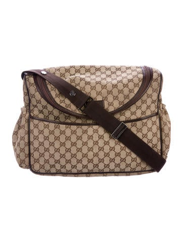 Gucci Original GG Diaper Bag None