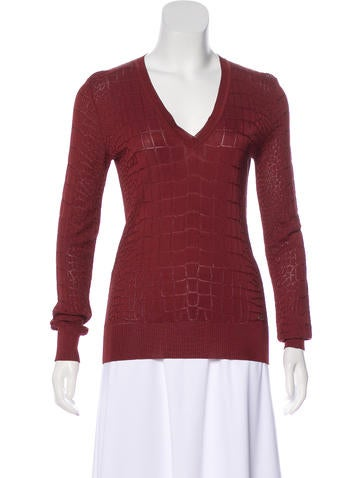 Gucci Patterned V-Neck Top None