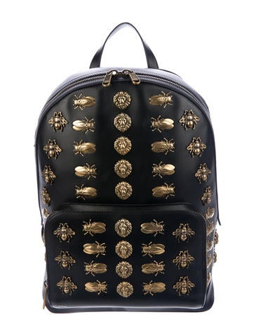 Gucci 2018 Leather Animal Studs Backpack None
