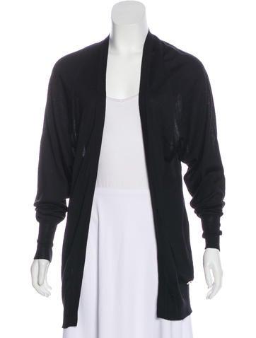 Gucci Wool & Silk-Blend Knit Cardigan None