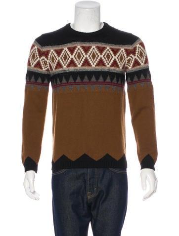 Gucci Wool-Blend Intarsia Knit Sweater None