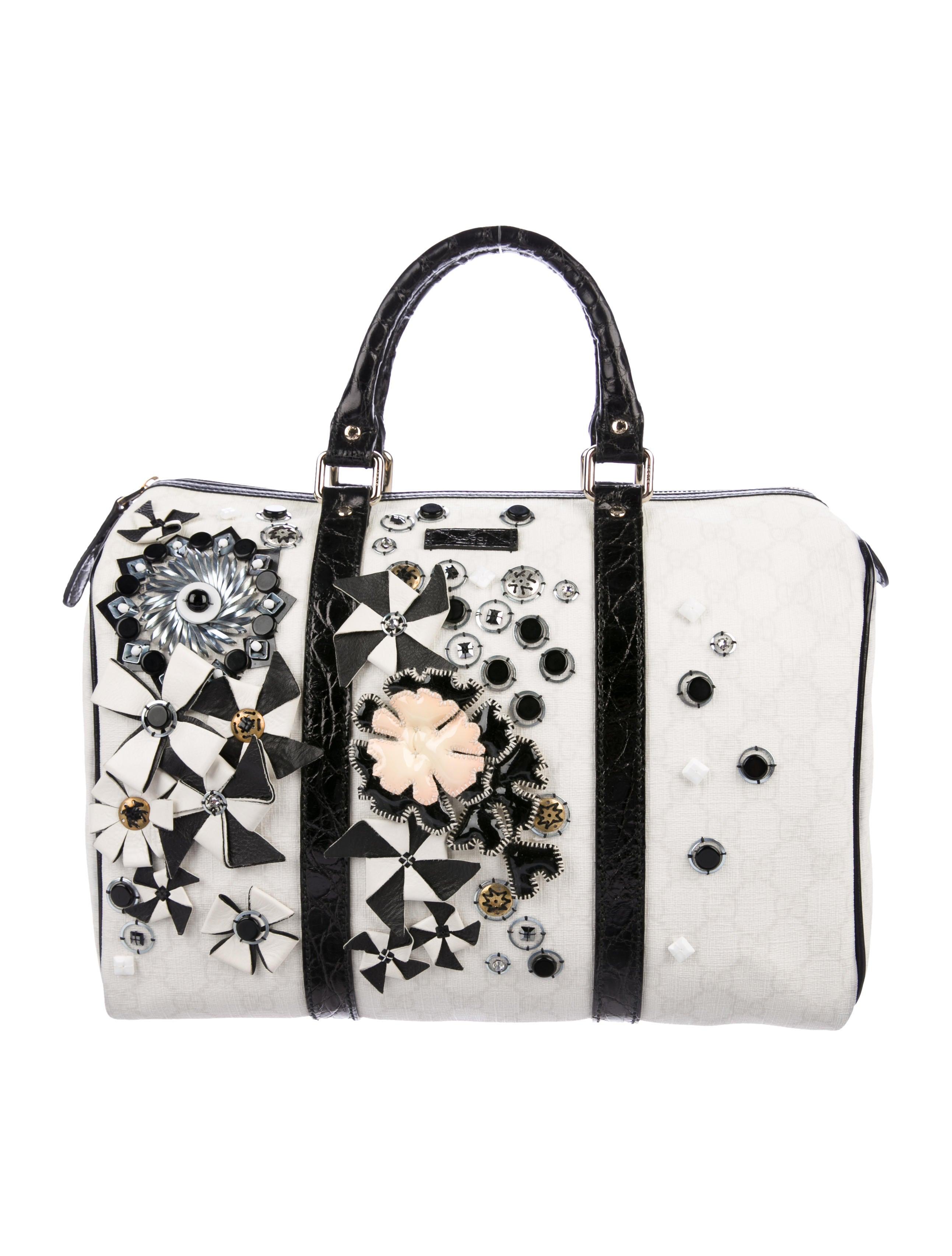 935b41377303 Gucci Embellished Medium Joy Boston Bag - Handbags - GUC203765 | The ...