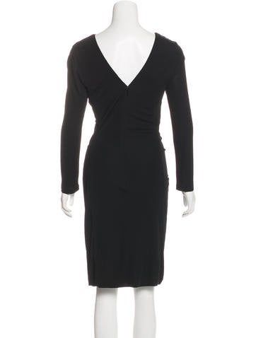Long Sleeve Knee-Length Dress