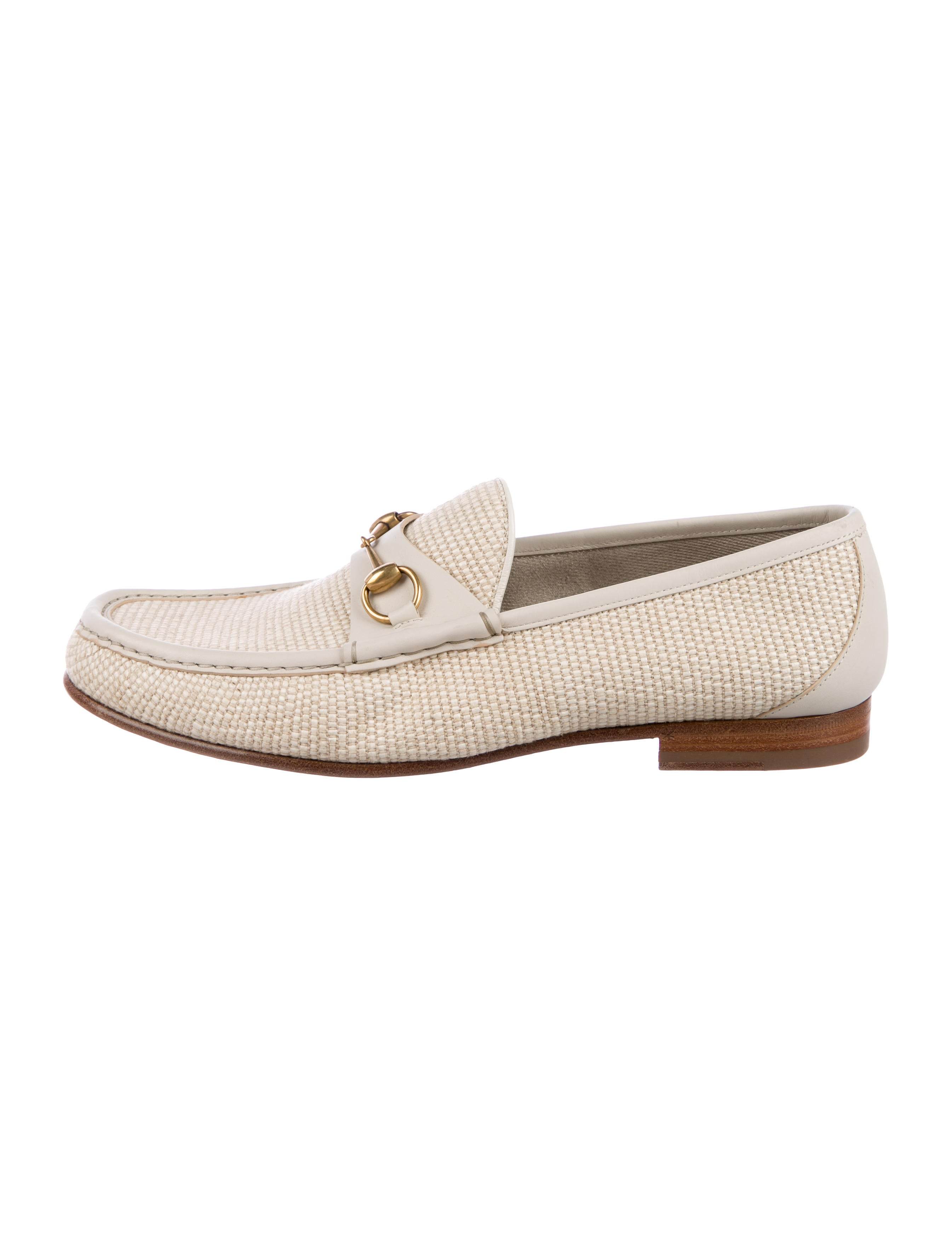541433727 Gucci 1953 Horsebit Raffia Loafers - Shoes - GUC204146 | The RealReal