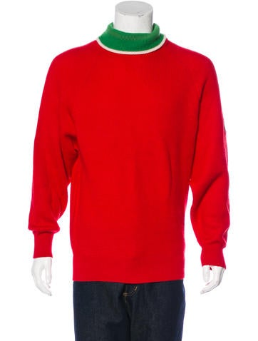Gucci GG Web Wool Turtleneck Sweater None