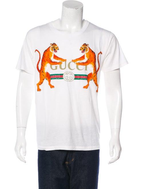 79314c83 Gucci Tiger Logo Print T-Shirt - Clothing - GUC204172 | The RealReal