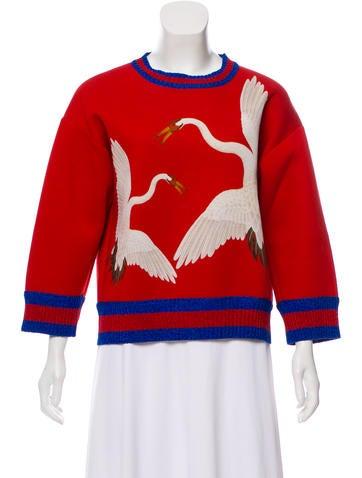 Gucci 2018 Printed Neoprene Sweatshirt None