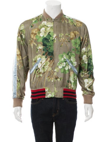 Gucci 2016 Reversible Blooms Silk Bomber Jacket None