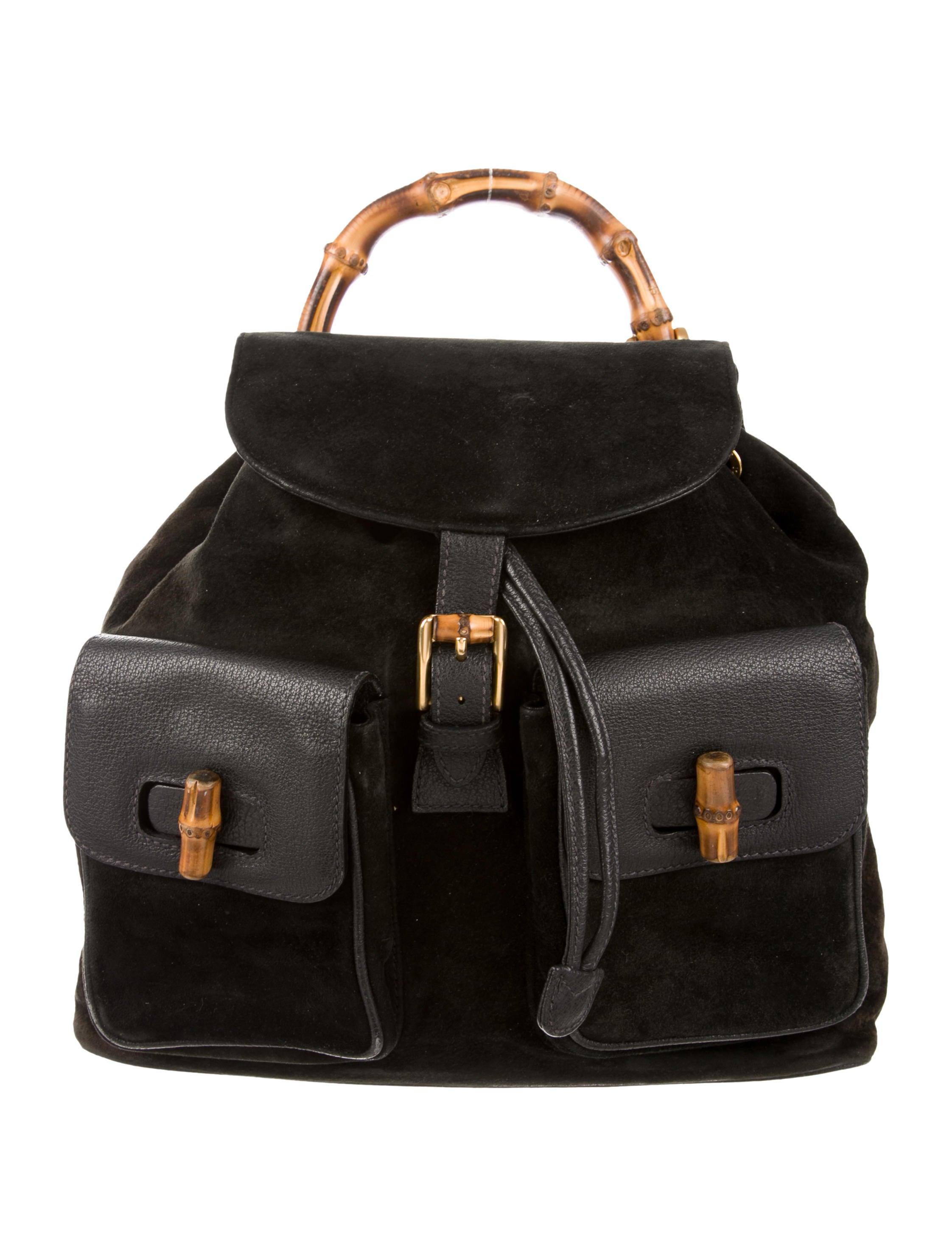 c4a1a95d76d1 Gucci Vintage Bamboo Backpack - Handbags - GUC204992