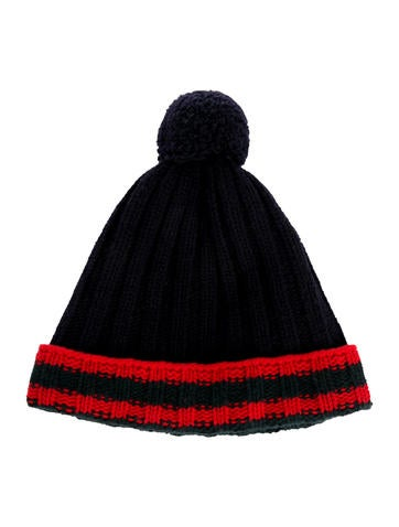 Gucci Wool Web-Trimmed Beanie None