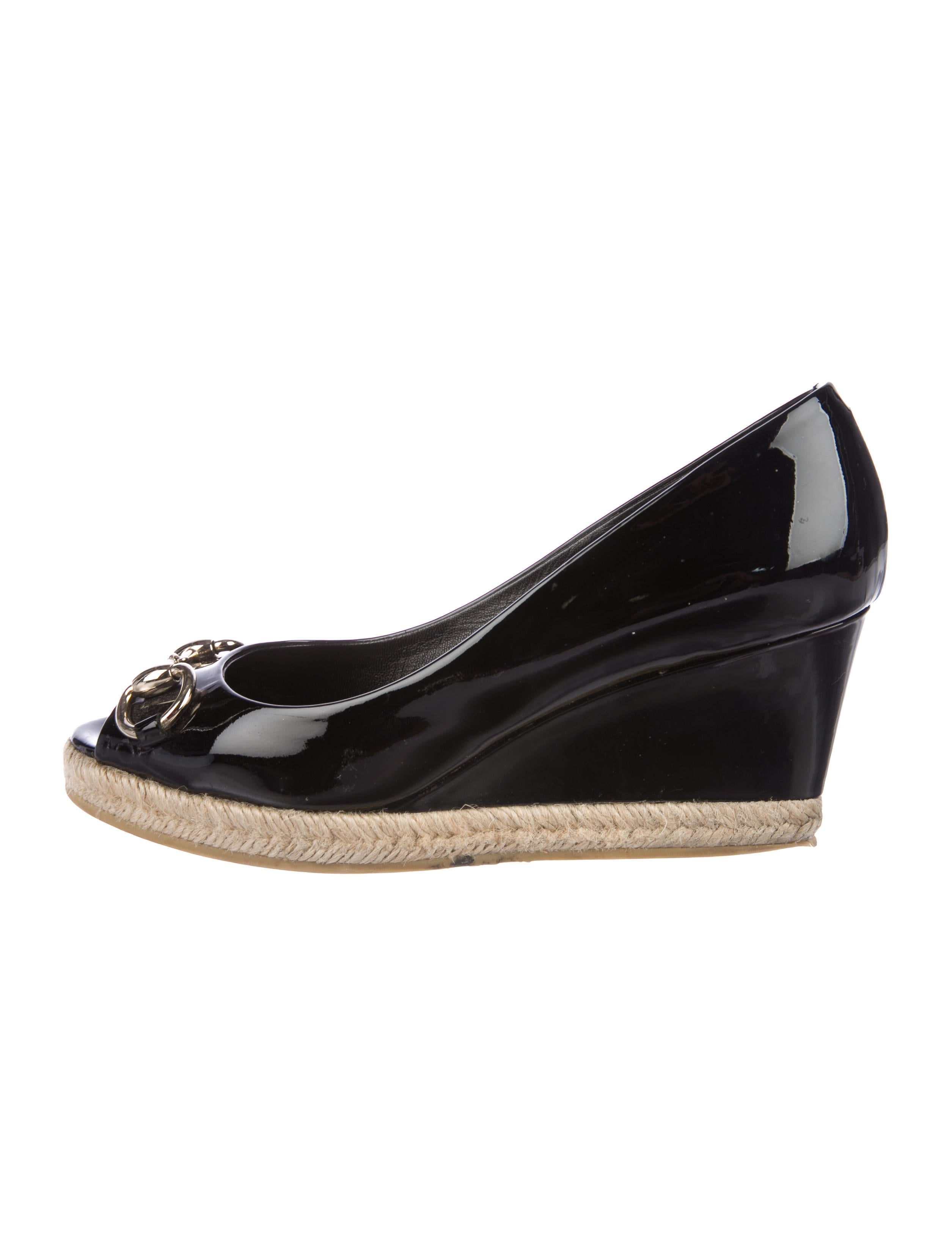 97e6b07a434 Gucci Horsebit Peep-Toe Wedges - Shoes - GUC205697