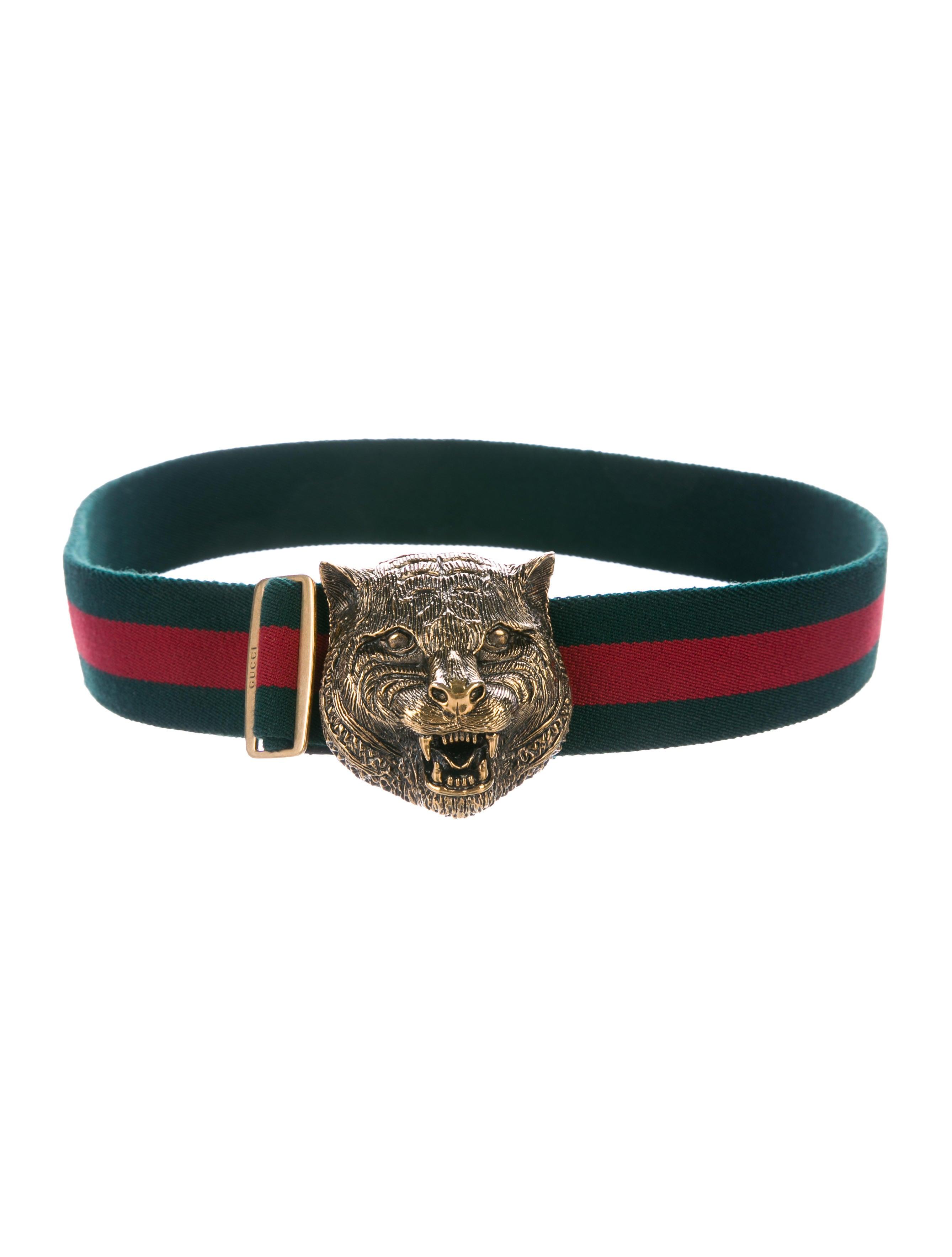 e187693c8e5 Gucci Feline Buckle Waist Belt w  Logo Web - Accessories - GUC205936 ...