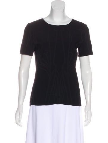 Gucci Textured Short Sleeve T-Shirt None