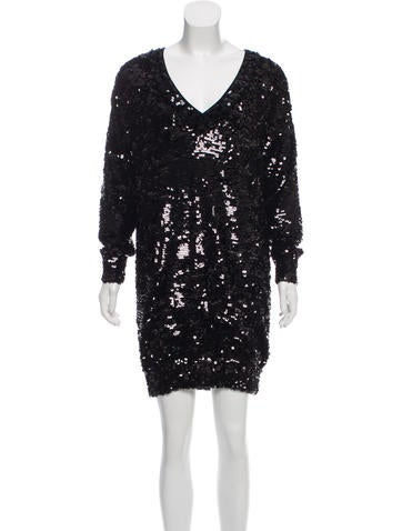 Gucci Sequined Wool Dress None