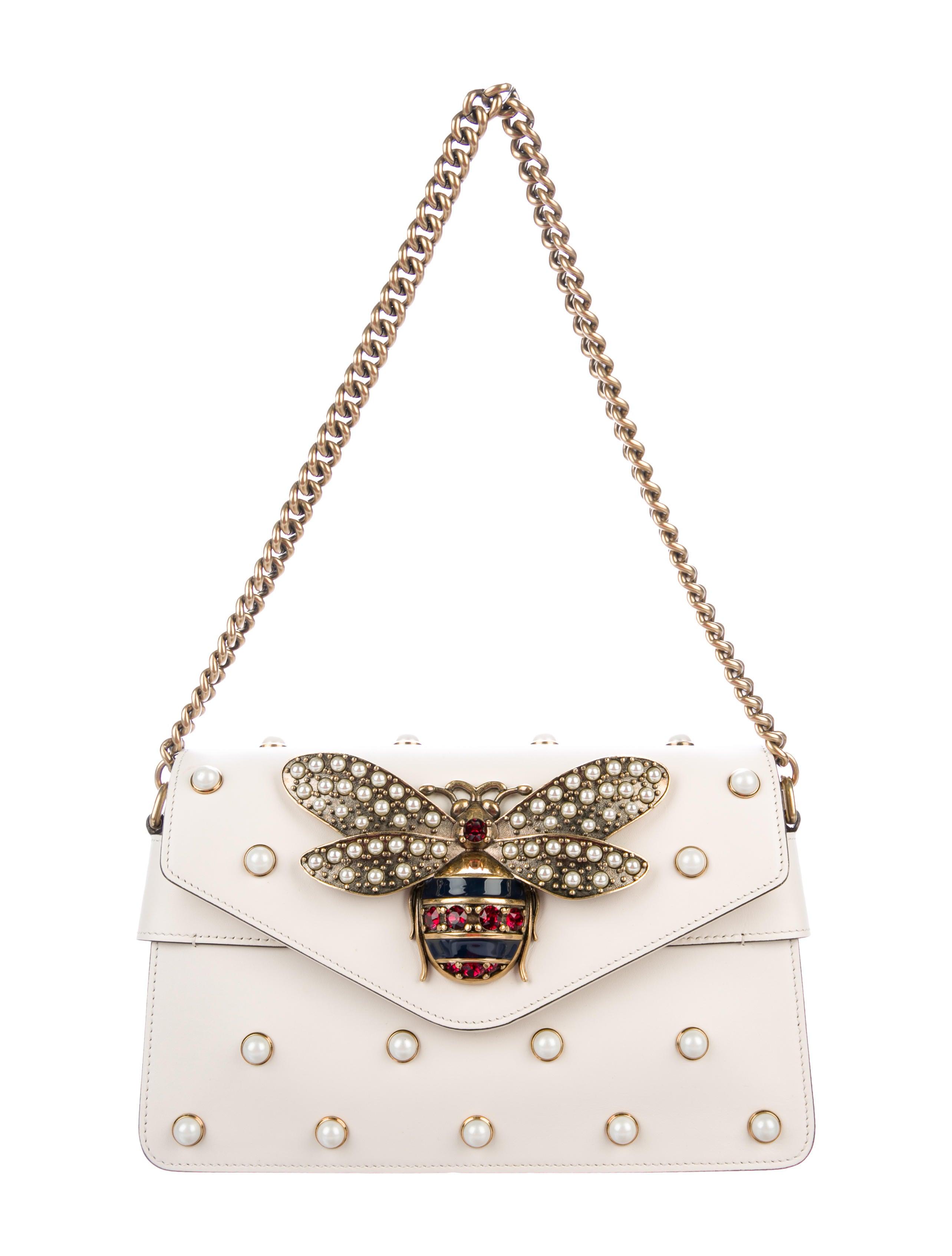c9456e000d1b Gucci Broadway Leather Mini Bag - Handbags - GUC209539 | The RealReal