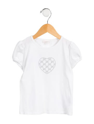 Gucci Girls' Embellished GG Top None