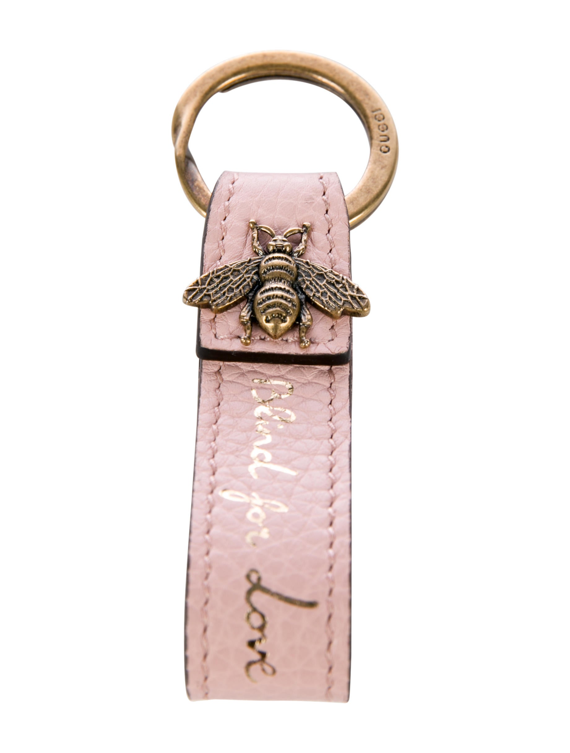 9dbf43b0b4d9a6 Gucci Bee Leather Keychain - Accessories - GUC209971 | The RealReal