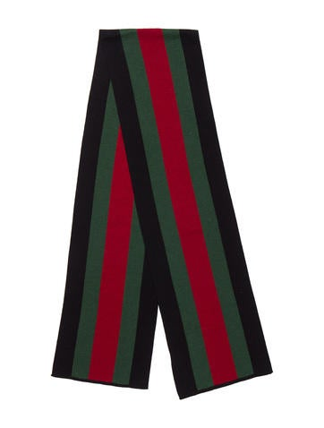Gucci Web Cashmere-Blend Scarf w/ Tags None