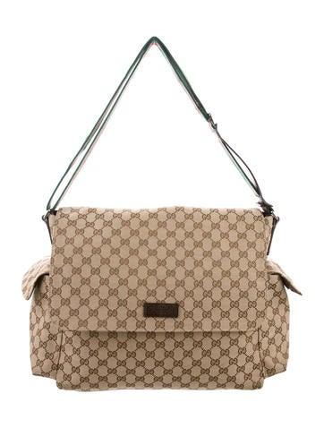 Gucci GG Web Diaper Bag None