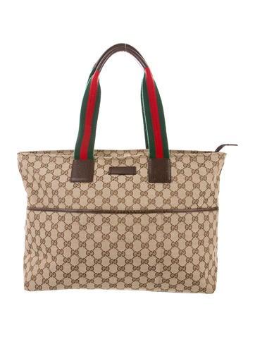Gucci GG Web Original Diaper Bag None