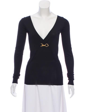 Gucci Long Sleeve Knit Top None
