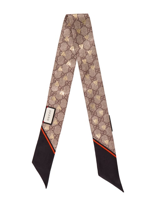 5aff940569 Gucci GG Bees Silk Neck Bow - Accessories - GUC213293   The RealReal