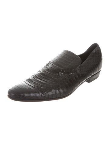 Python Round-Toe Loafers