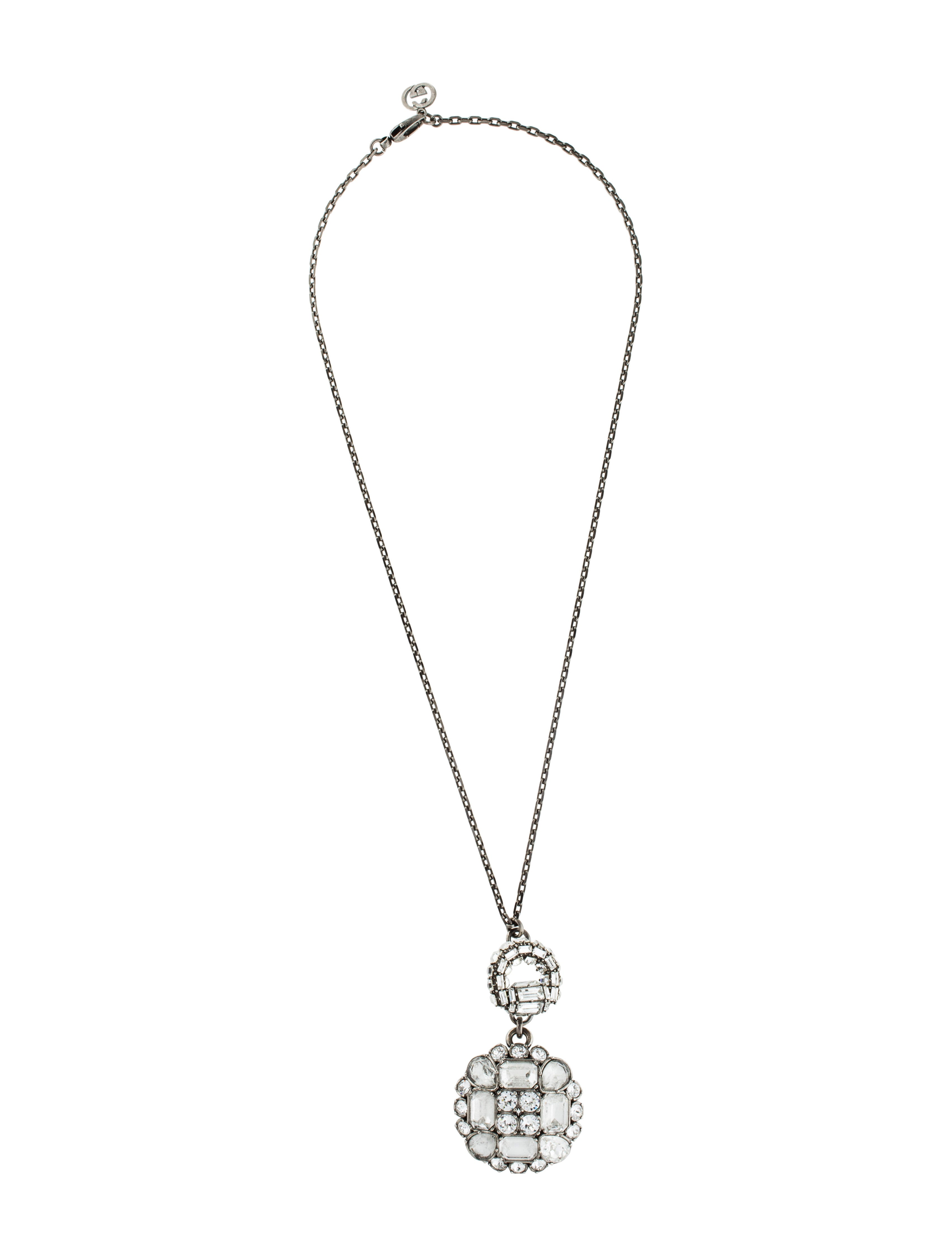Gucci crystal horsebit large pendant necklace necklaces crystal horsebit large pendant necklace aloadofball Image collections