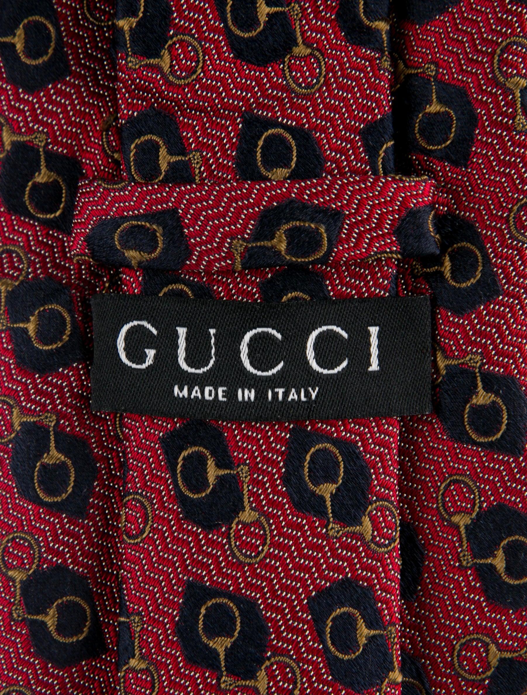 1af1321e7d61 Gucci Horsebit Jacquard Silk Tie - Suiting Accessories - GUC214790 ...