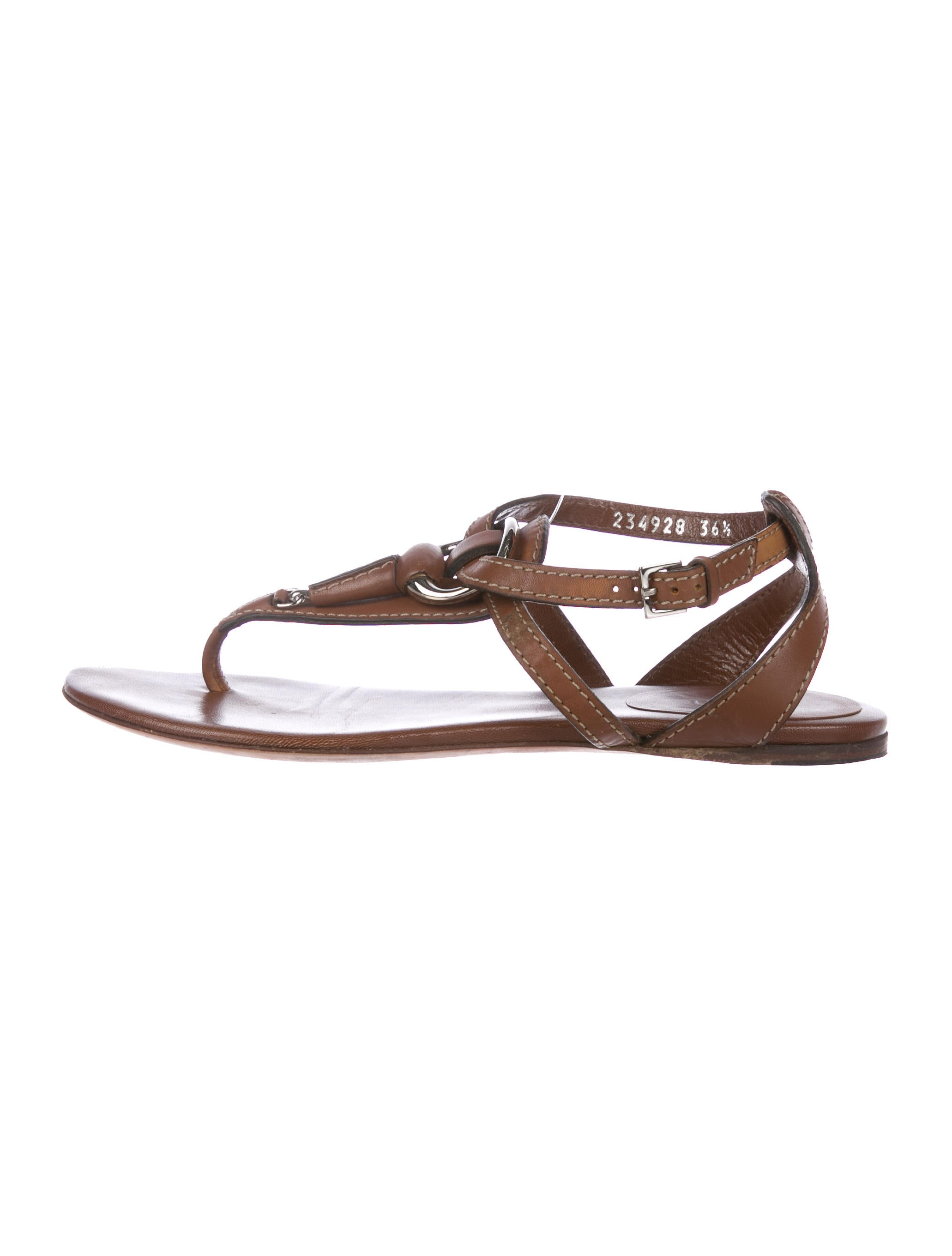 8f523fe5c Gucci Horsebit Thong Sandals - Shoes - GUC214983
