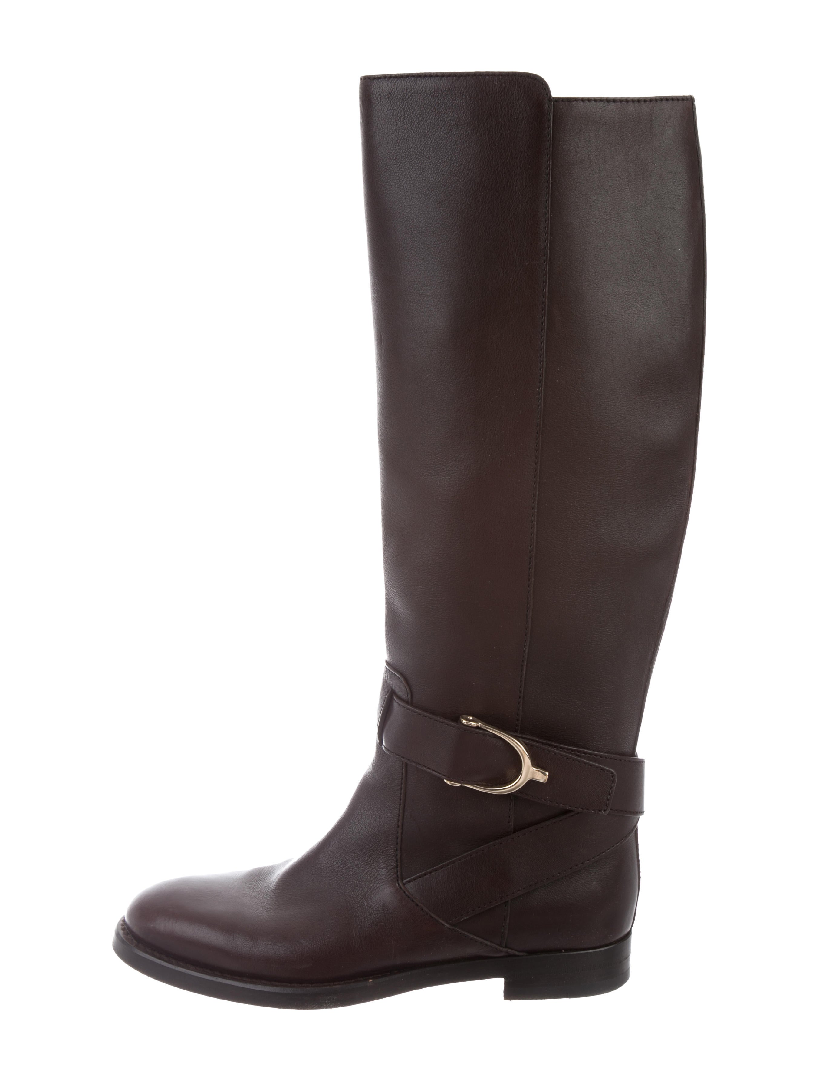 f01f59e6a Gucci Leather Round-Toe Boots - Shoes - GUC215037 | The RealReal
