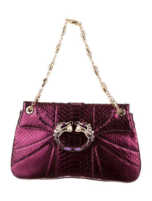 8286f4dcbf2308 Gucci Tom Ford For Gucci Metallic Python Bag - Handbags - GUC21511 ...