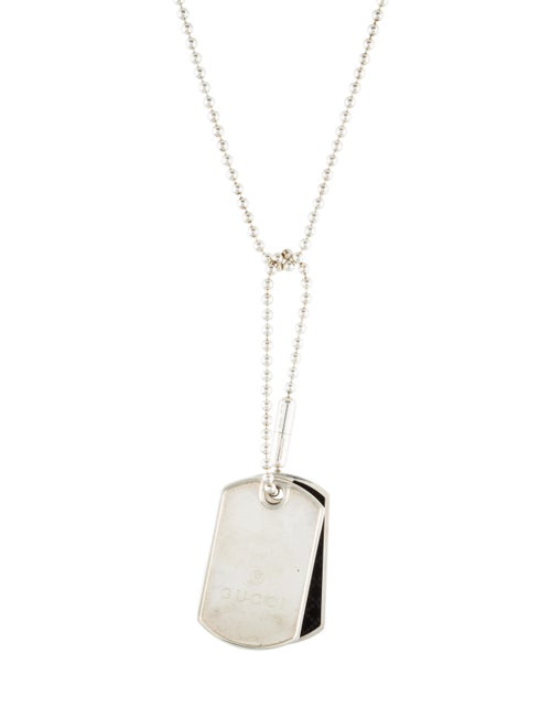 113a29a22 Gucci Dual Diamante Dog Tag Necklace - Necklaces - GUC216530 | The ...