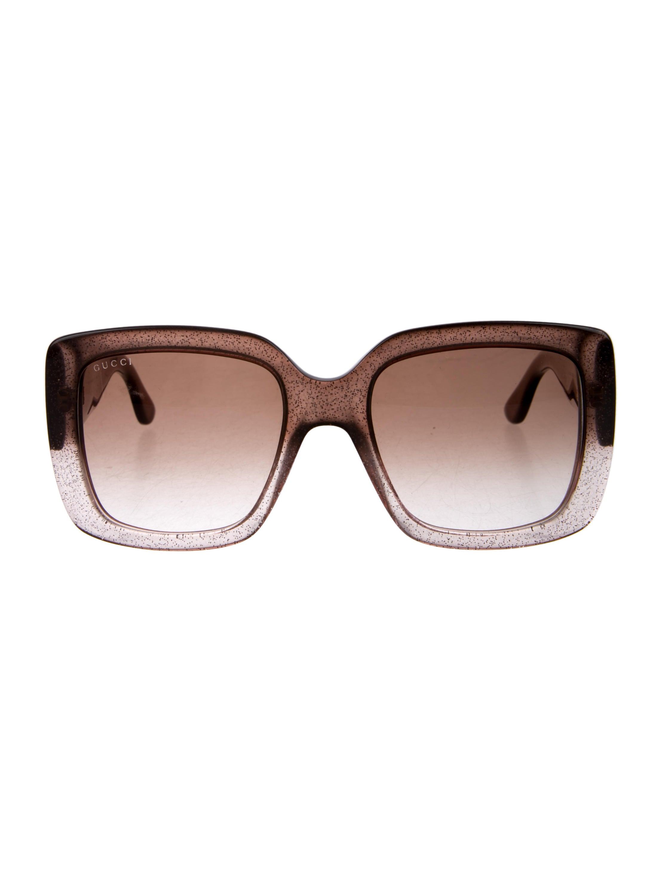 967a69e8c06 Gucci Glitter Colorblock Sunglasses - Accessories - GUC218702