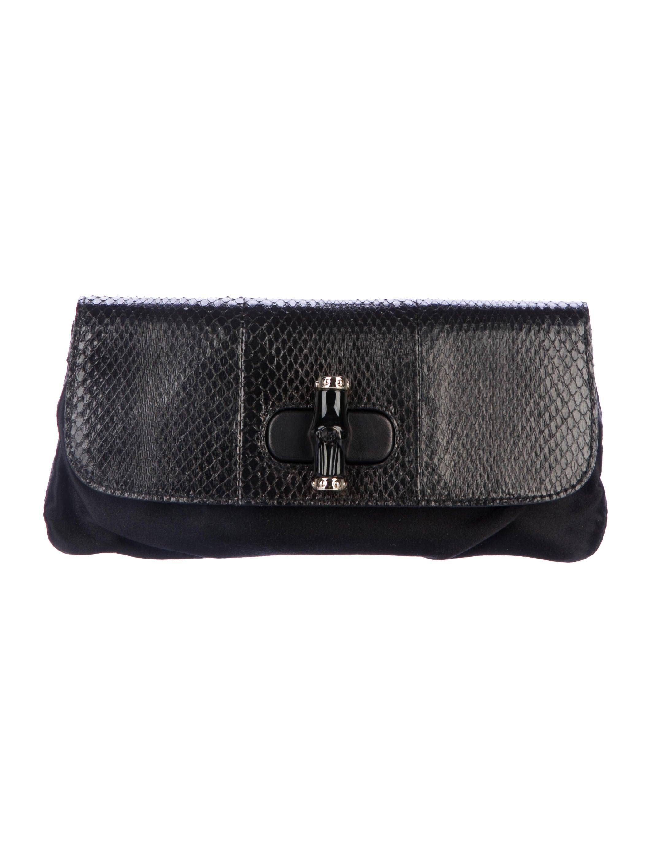 d38874f67e8e47 Gucci Python Bamboo Clutch - Handbags - GUC219018 | The RealReal