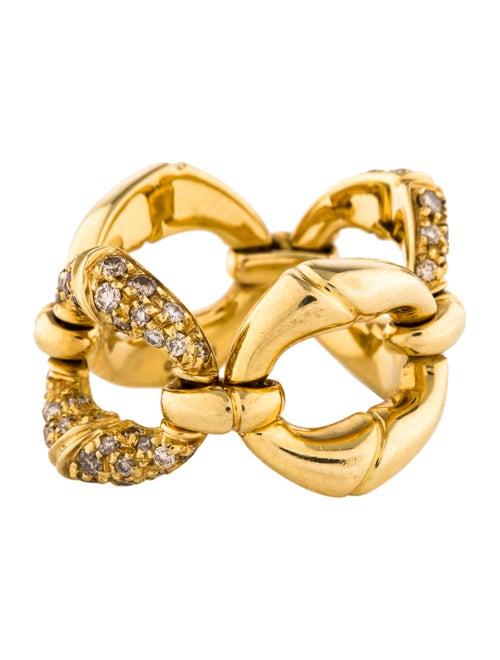 c0cd9fa88 Gucci 18K Diamond Bamboo Ring - Rings - GUC219235 | The RealReal