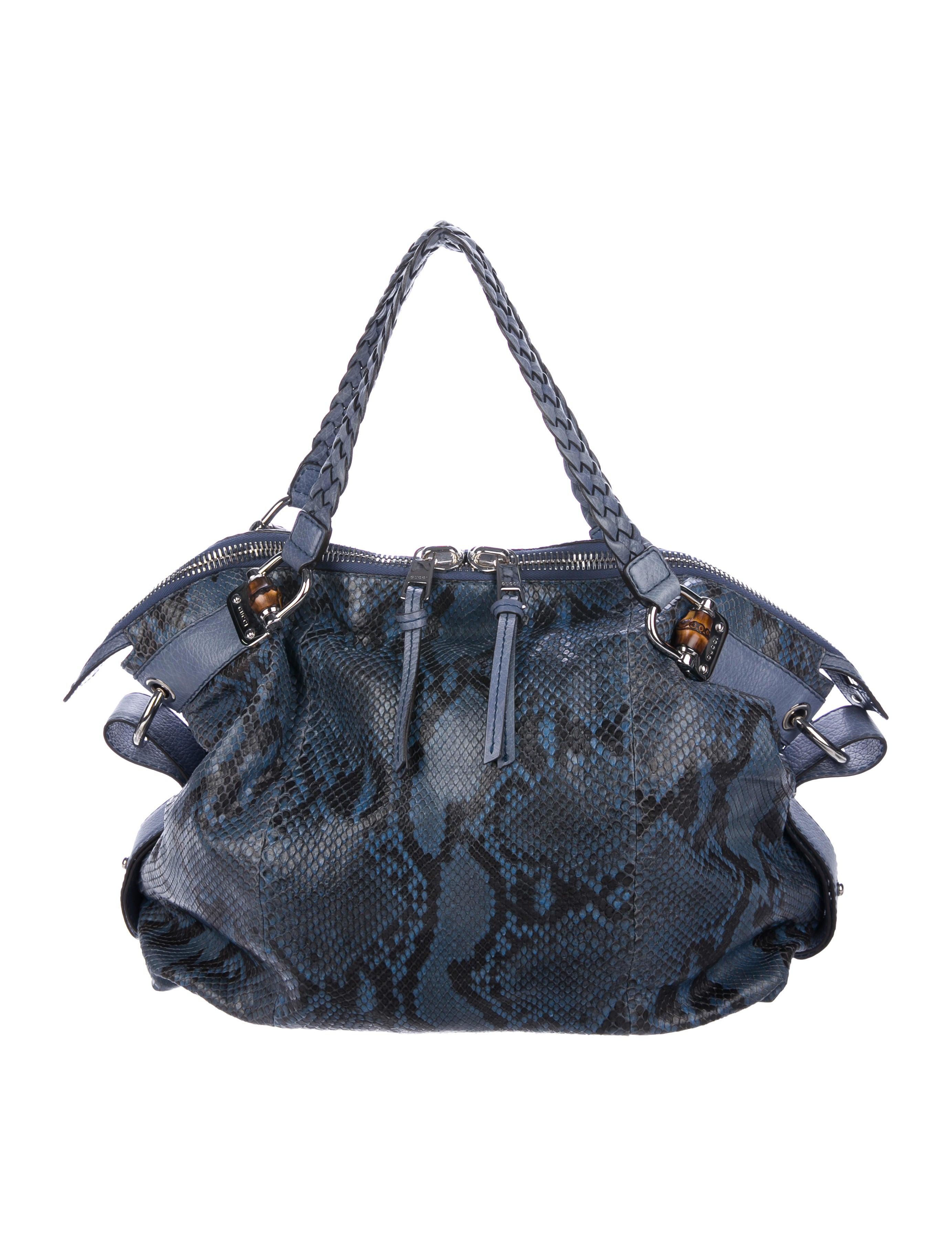 3b74b8aa518c Gucci Python Bamboo Bar Tote - Handbags - GUC219381 | The RealReal