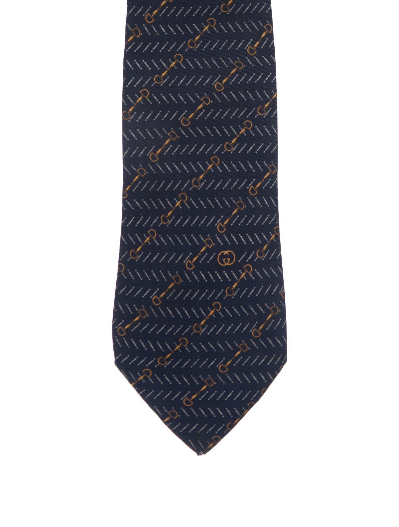 b7135cca7c07 Men · Suiting Accessories; Gucci Horsebit Print Silk Tie. Horsebit Print Silk  Tie