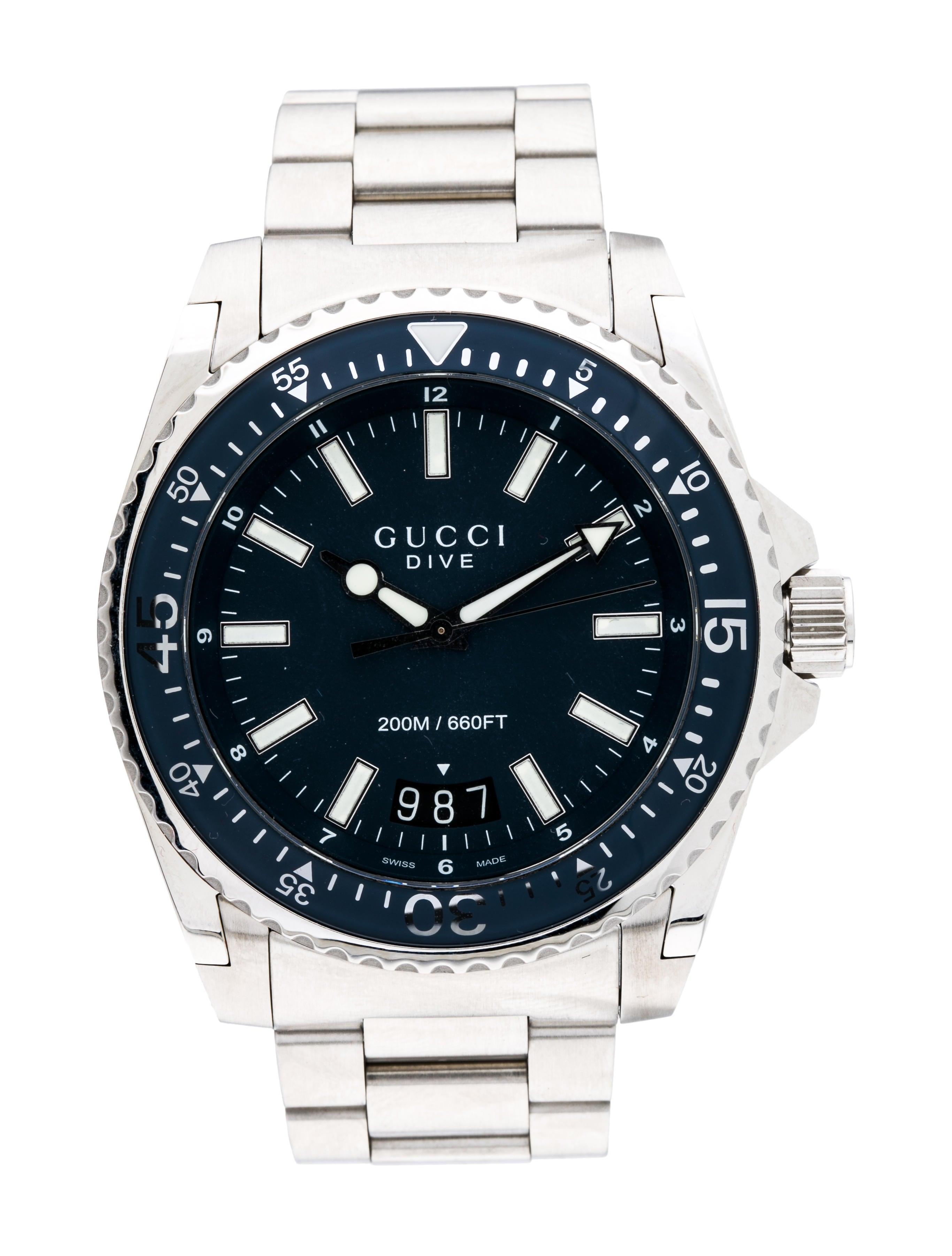 484463fd277 Gucci Dive XL Watch - Bracelet - GUC222697