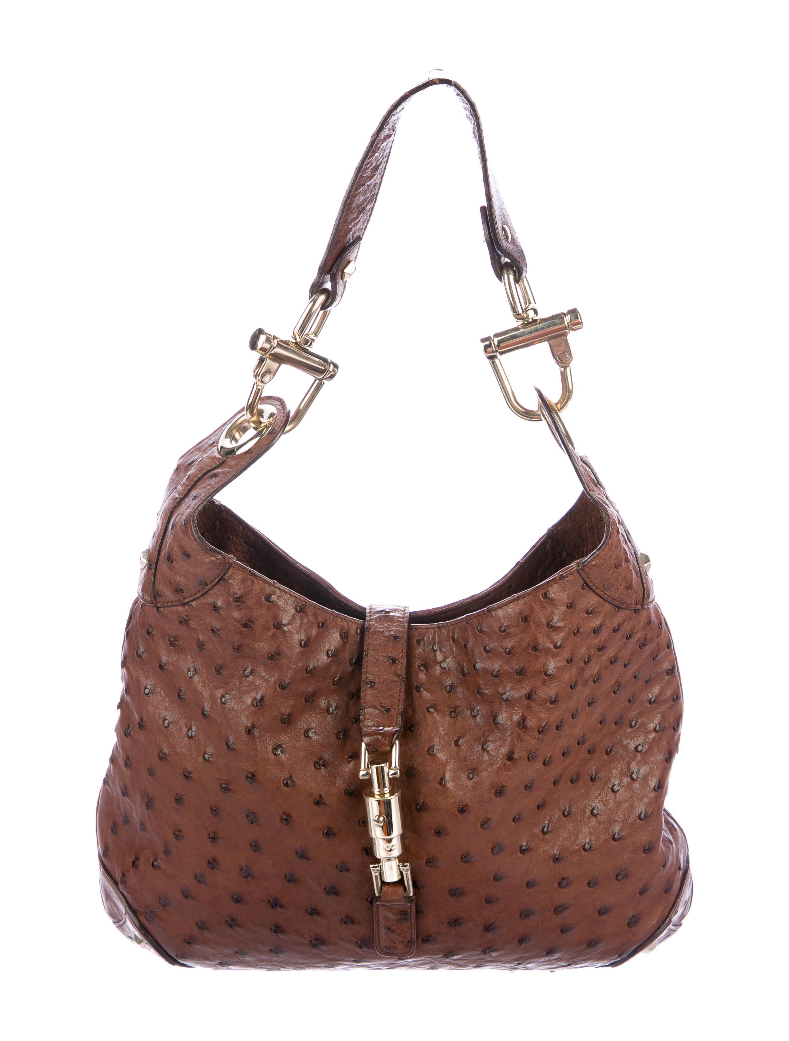 8e02a4b17 Gucci Ostrich Jackie Bag - Handbags - GUC222843   The RealReal